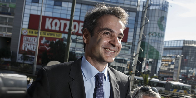 Newly elected leader of Greece's conservative New Democracy party Kyriakos Mitsotakis arrives at the party's headquarters, a day after winning the party elections, in Athens, Greece January 11, 2016. REUTERS/Alkis Konstantinidis