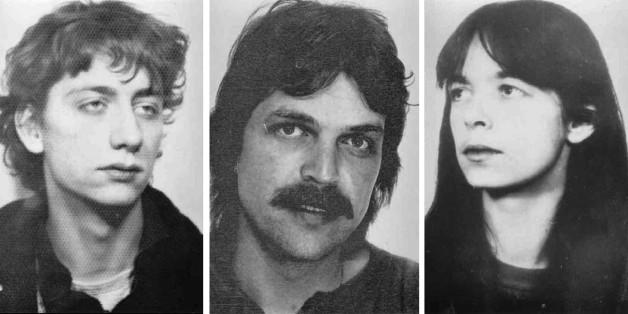 Die früheren RAF-Mitglieder Burkhard Garweg, Ernst-Volker Wilhelm Staub und Daniela Klette
