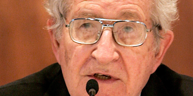 "** CORRECTS NAME TO NOAM ** U.S. linguist and political activist Noam Chomsky speaks during a lecture titled ""The Great Soul of Power"" at the American University of Beirut, in Beirut, Lebanon, Tuesday, May 9, 2006. (AP Photo/Hussein Malla)"