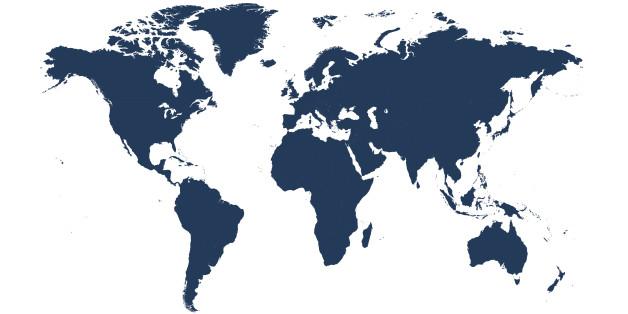 Die übliche Weltkarte verzerrt die realen Größenverhältnisse