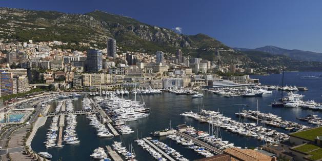 Tax Haven Monaco.La Condamine with Monte Carlo behind.