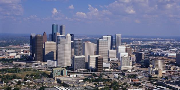 Die Innenstadt von Houston