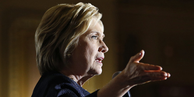 Democratic presidential candidate Hillary Clinton speaks at a rally, Thursday, May 26, 2016, in San Francisco. (AP Photo/John Locher)
