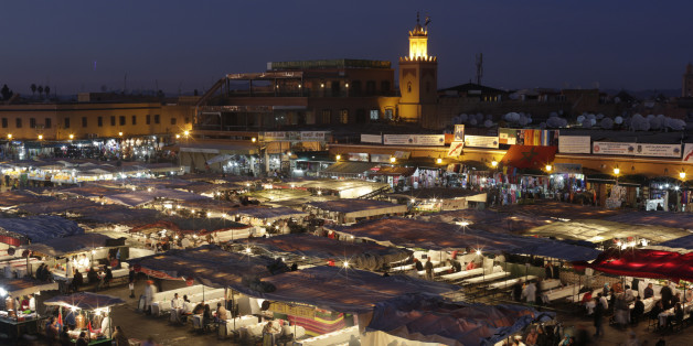 A view of Djamaa Lafna square and its restaurants in Marrakesh's old city December 18, 2014.  Picture taken December 18, 2014. REUTERS/Youssef Boudlal (MOROCCO - Tags: SOCIETY TRAVEL)