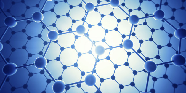 Graphene atomic structure, computer illustration.