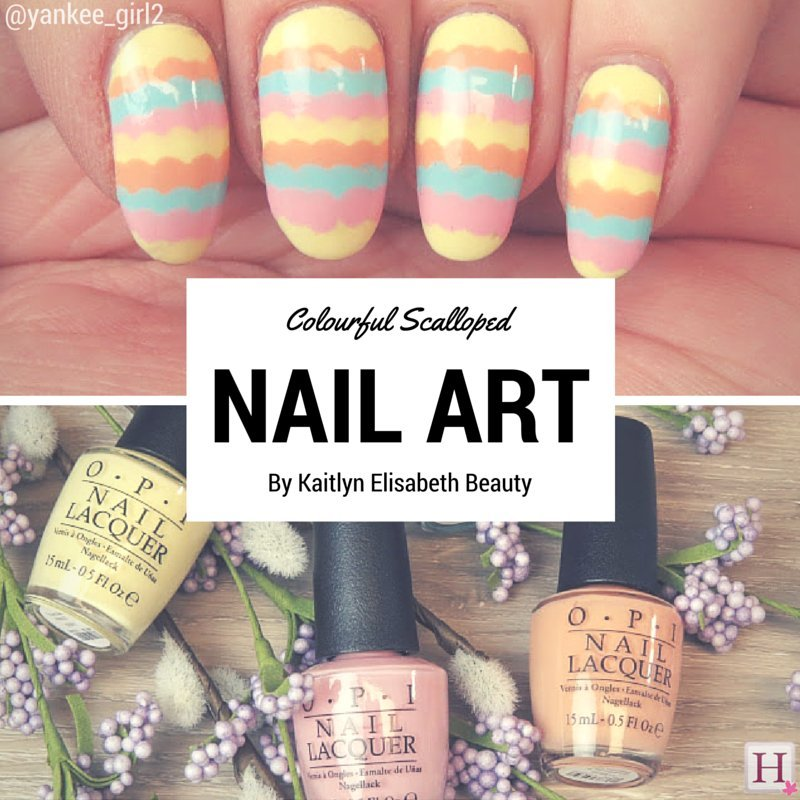 scalloped nail art