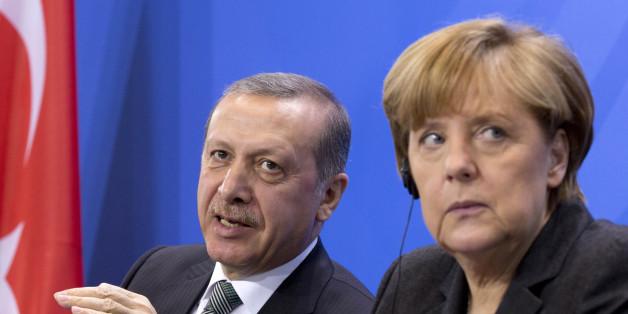 Bundeskanzlerin Angela Merkel und der türkische Präsident Erdogan