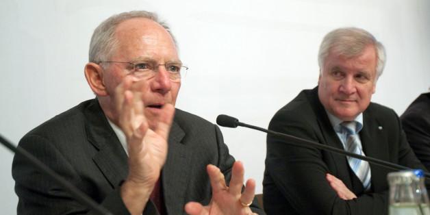 Vor Koalitionsgipfel: Schäuble weist Seehofer scharf zurecht