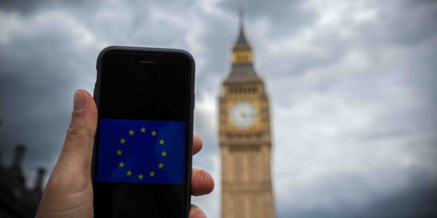 Dark clouds gather as the UK will vote on whether to remain in the European Union on June 24th, 2016 - BREXIT