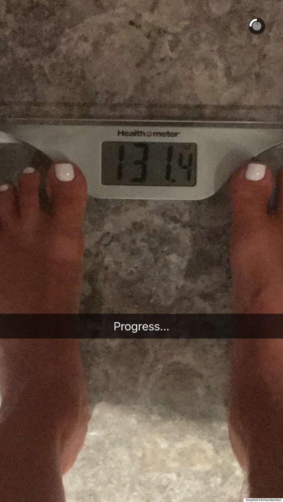 kim kardashian weight