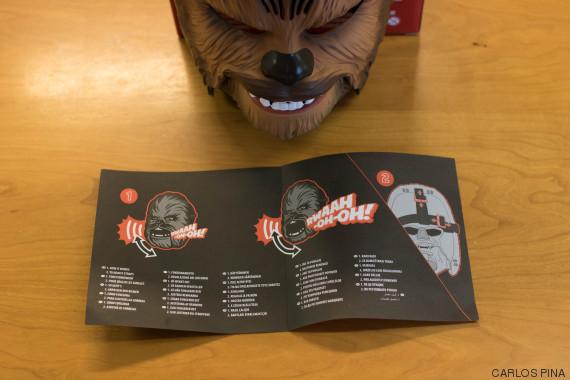 folleto mascara chewbacca