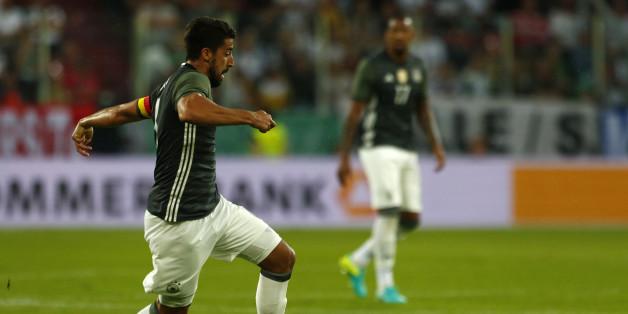 Deutschland spielt am Samstag gegen Ungarn. Im Testspiel gegen die Slowakei (Bild) hat das DFB-Team verloren