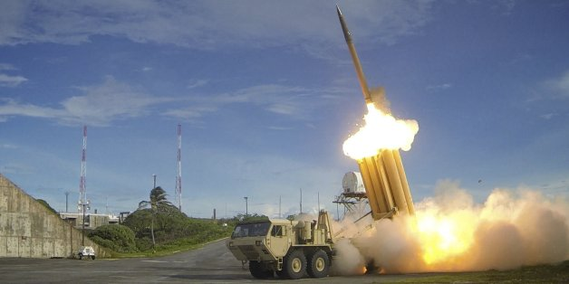 A Terminal High Altitude Area Defense (THAAD) interceptor is launched during a successful intercept test, in this undated handout photo provided by the U.S. Department of Defense, Missile Defense Agency. THAAD provides the U.S. military a land-based, mobile capability to defend against short- and medium-range ballistic missiles, intercepting incoming missiles inside and outside the earth's atmosphere. REUTERS/U.S. Department of Defense, Missile Defense Agency/Handout via Reuters ATTENTION EDITOR