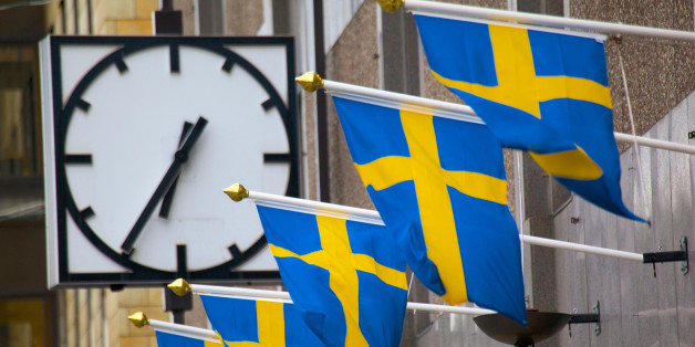 Europe, Scandinavia, Sweden, Gothenburg, Swedish Flags