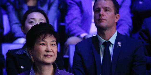 South Korea's President Park Geun-hye (L) attends a K-Pop concert, the KCON 2016, at the Bercy Arena, in Paris, France, June 2, 2016. REUTERS/Thibault Camus/Pool