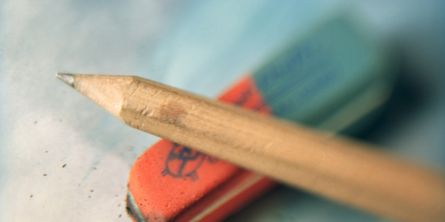 close-up of pencil and rubber