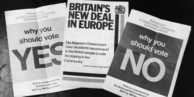 UNITED KINGDOM - MAY 01:  Common Market Referendum Tracts In Great Britain On May 1975  (Photo by Keystone-France/Gamma-Keystone via Getty Images)