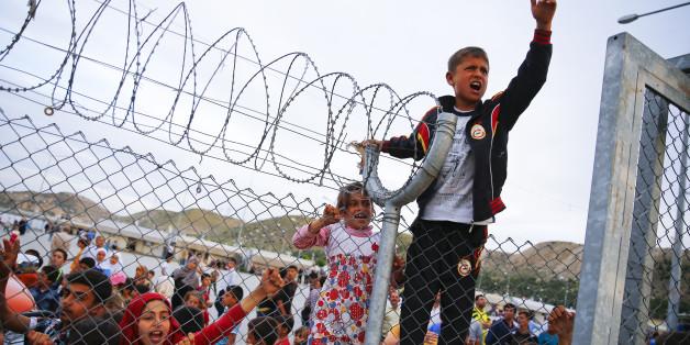 Kinder in einem türkischen Flüchtlingslager