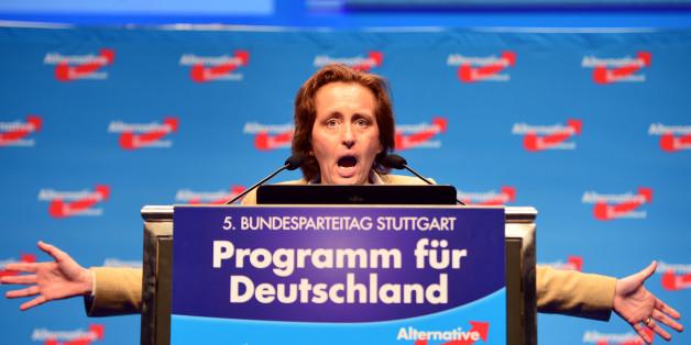 AfD-Vizechefin Beatrix von Storch wird besonders häufig Ziel von Angriffen