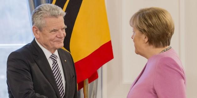 Bundespräsident Joachim Gauck und Bundeskanzlerin Angela Merkel