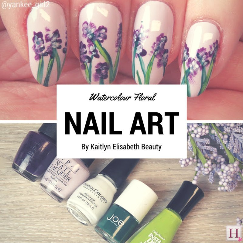Nail Art: An Easy Floral Watercolour Design