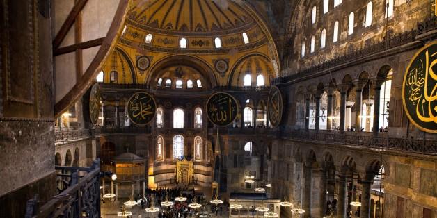 Turkey. Istanbul. Interiors Of Agia Sofia. (Photo by: Claudio Beduschi/AGF/UIG via Getty Images)