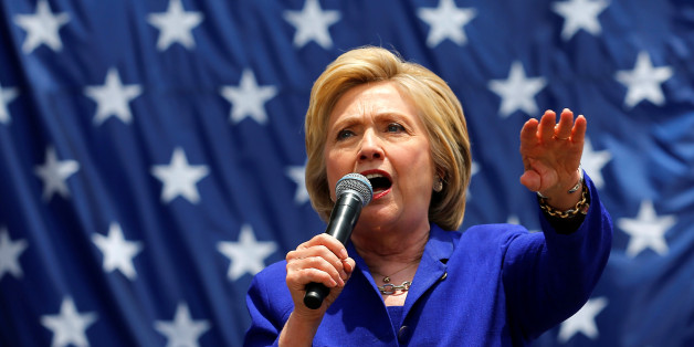 U.S. Democratic presidential candidate Hillary Clinton makes a speech during a campaign stop in Lynwood, California, United States, June 6, 2016.   REUTERS/Mike Blake