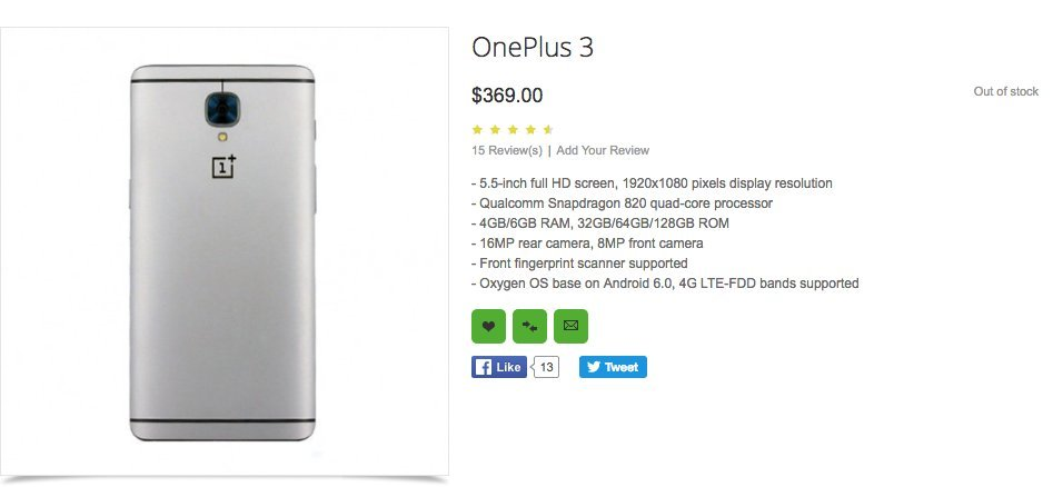 oneplus listing