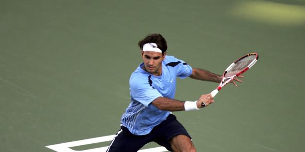 Roger Federer spielt am Freitag gegen Mayer (Symbolbild)