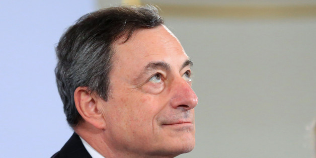 Mario Draghi, president of the European Central Bank (ECB), pauses during a news conference to announce the bank's interest rate decision in Vienna, Austria, on Thursday, June 2, 2016. The European Central Bank kept its stimulus program unchanged and said it will start buying corporate bonds next week, as measures announced two months ago kick in. Photographer: Krisztian Bocsi/Bloomberg via Getty Images