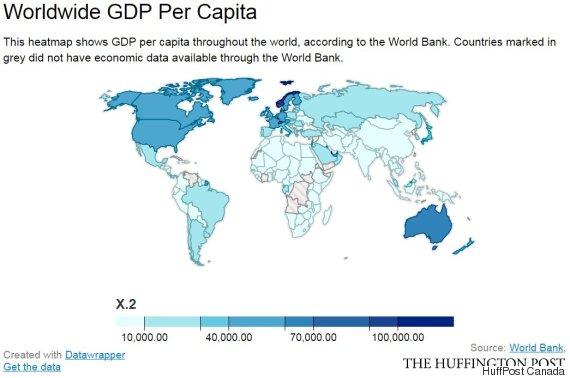 worldwide gdp per capita