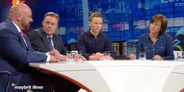 """André Schulz (links), der Chef des Bundes Deutscher Kriminalbeamter bei """"Maybrit Illner"""""""