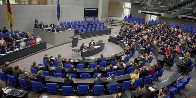 BERLIN, GERMANY - JUNE 9: President of the Bundestag, Norbert Lammert chairs German federal parliament (Bundestag) meeting on 'Better exchange of information for counter terrorism' in Berlin, Germany on June 9, 2016.  (Photo by Mehmet Kaman/Anadolu Agency/Getty Images)