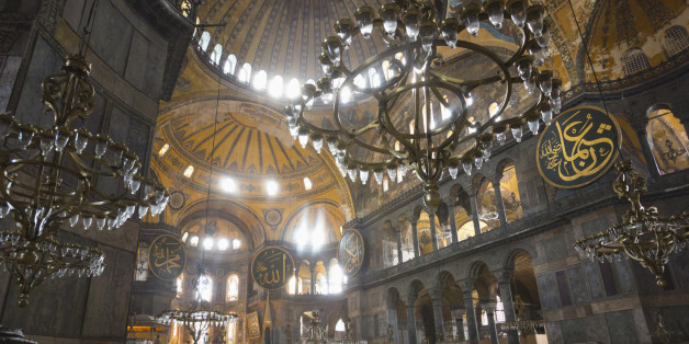 Istanbul, Turkey.  Haghia Sophia or Hagia Sophia or Ayasofya.  Built as a church in the 6th century, used as a mosque from 1453 and since 1935, a museum.  Hagia Sophia is part of the Historic Areas of Istanbul which is a UNESCO World Heritage Site.