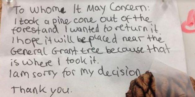 Ein kleiner Dieb entschuldigt sich mit rührendem Brief