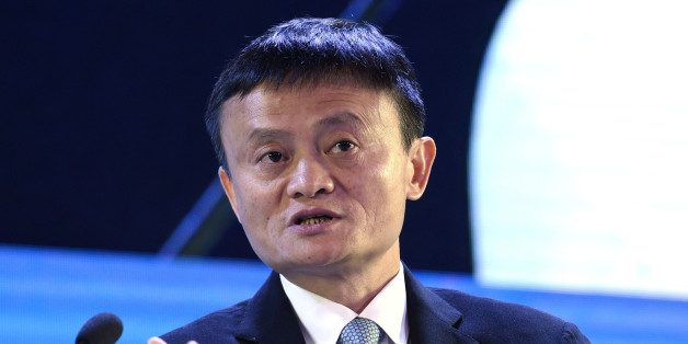FILE - In this Nov. 18, 2015 file photo, Alibaba founder Jack Ma speaks at the CEO Summit attended by 800 business leaders from around the region representing U.S. and Asia-Pacific companies, in Manila, Philippines, ahead of the start of the Asia-Pacific Economic Cooperation summit. Jack Ma, the head of Chinese e-commerce giant Alibaba, is withdrawing from an anti-counterfeiting convention in Florida just two days before he was scheduled to give the keynote speech. (AP Photo/Susan Walsh, File)