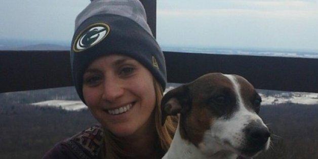 Amber Kohnhorst mit ihrem Hund