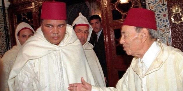 Mohamed Ali et Hassan II, à Rabat, en janvier 1998