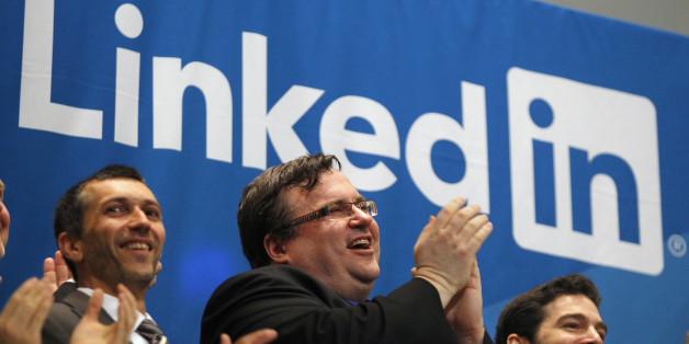 Le cofondateurs de Linkedin Reid Garrett Hoffman lors de l'introduction en bourse de LinkedIn à la New York Stock Exchange, le 19 mai 2011.