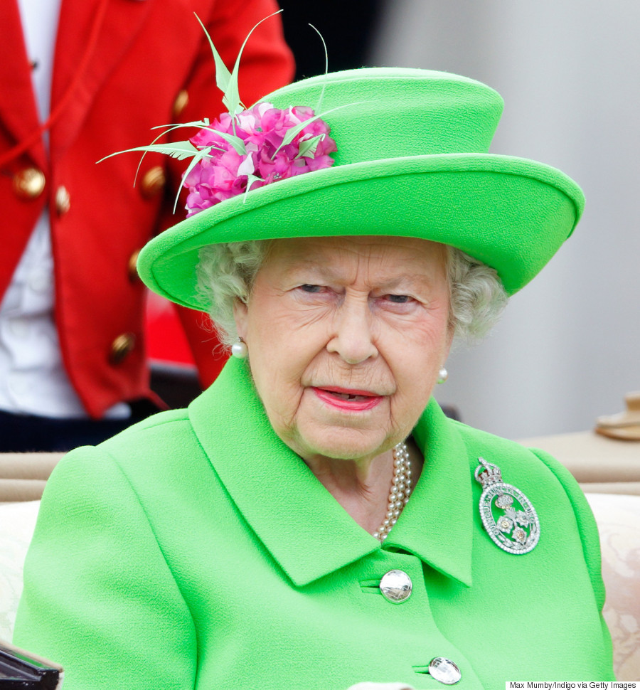 Queen Elizabethu0026#39;s Neon Green 90th Birthday Outfit Gets The Royal Meme Treatment On Twitter