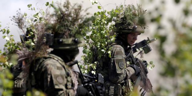 """Polnische Soldaten gestern bei der Nato-Übung """"Saber Strike"""""""