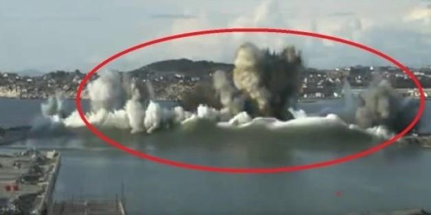 Spektakuläres Video zeigt, wie ein Staudamm in Norwegen in die Luft geht