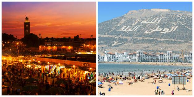 Marrakech et Agadir parmi les 10 des destinations préférées des Français