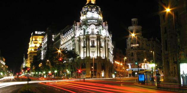 Madrid (Espagne), la nuit