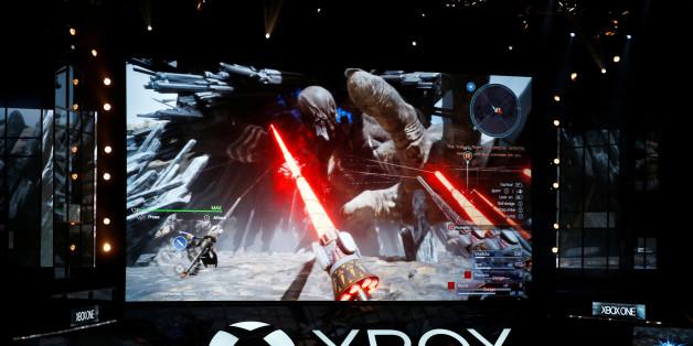 Microsoft Xbox displays Final Fantasy XV at the Xbox E3 2016 media briefing in Los Angeles, California, U.S., June 13, 2016. REUTERS/Lucy Nicholson