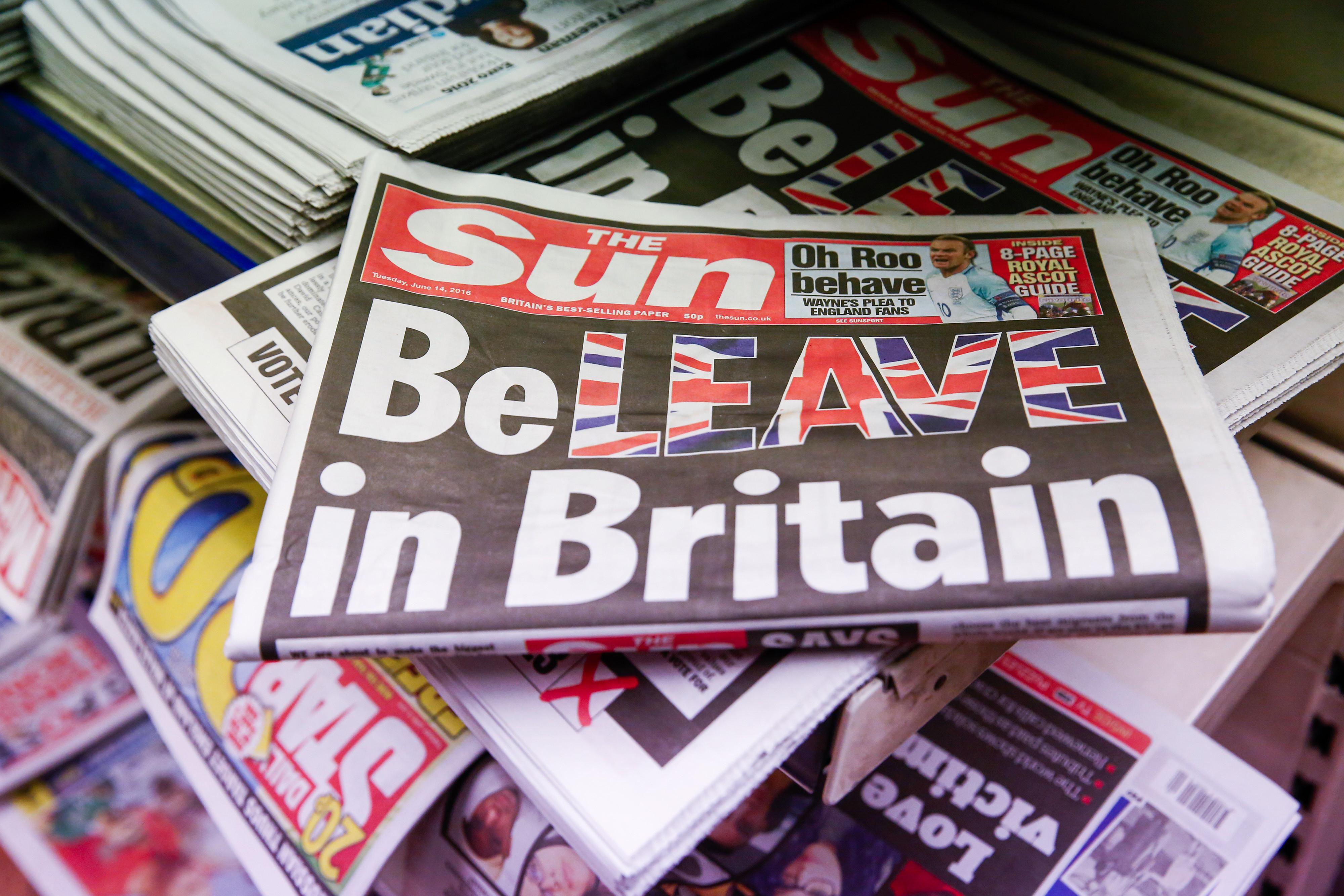 brexit sun headline