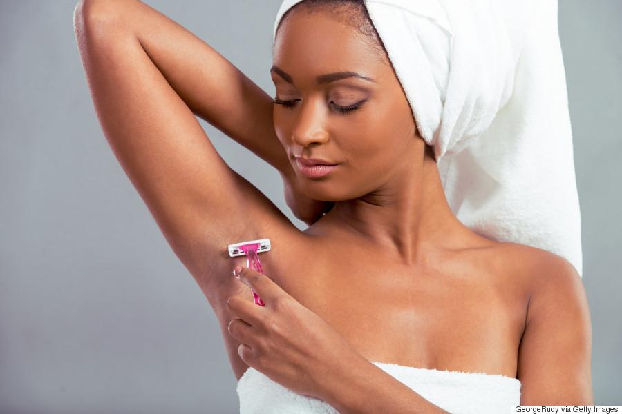 shaving underarm