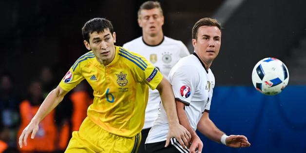 Nach dem Spiel gegen Deutschland ließ es die Ukrainische Mannschaft offenbar knallen