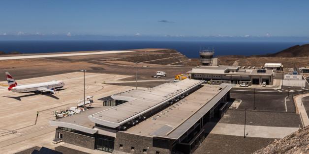 Der Flughafen St. Helena