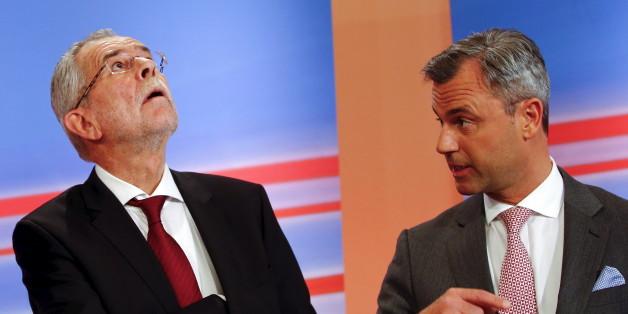 Die Präsidentschaftskandidaten Alexander van der Bellen und Norbert Hofer